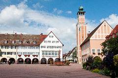 City Hall and old town in  Freudenstadt Royalty Free Stock Photos