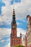 City hall of old town in Gdansk Royalty Free Stock Photo
