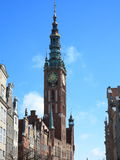 City hall of old town in Gdansk - Poland Royalty Free Stock Photo