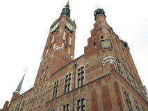 City hall of old town in Gdansk - Poland Royalty Free Stock Photography