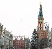 City hall of old town in Gdansk - Poland Stock Image