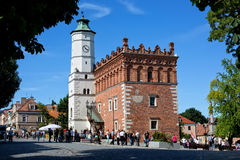 City Hall in the Old Town in Sandomierz, Poland. Royalty Free Stock Photo