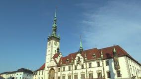 City Hall in Olomouc. Central Moravia, Czech Republic, Europe (EU stock footage