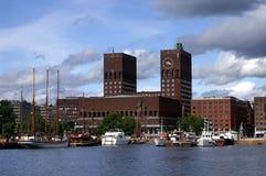 City hall Oslo stock photo