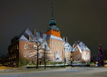 City Hall in Ostersund, Sweden stock images