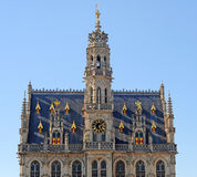 City hall, oudenaarde, belgium Stock Image