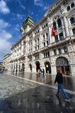 City hall palace and clock tower in Trieste, Italy Royalty Free Stock Photo