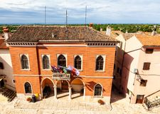 City Hall Palace Of Bale - Valle, Istria. Croatia Stock Images