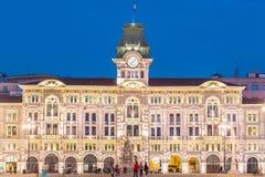 City Hall, Palazzo del Municipio, Trieste, Italy. Stock Image