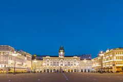 City Hall, Palazzo del Municipio, Trieste, Italy. Royalty Free Stock Image