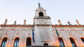 City Hall Palazzo moroni in Padua in evening. Travel to Italy - City Hall Palazzo moroni in Padua city in evening stock photography