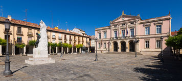 City hall of Palencia in sunny day Stock Photos