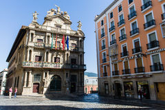 City hall of Pamplona (Spain). City hall of Pamplona (Navarre, Spain), built in the 15th century, baroque style Stock Image