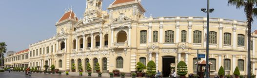 City Hall panorama in Ho Chi Minh City Vietnam stock images