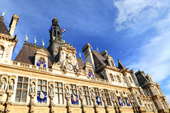 The city hall in Paris Royalty Free Stock Photography