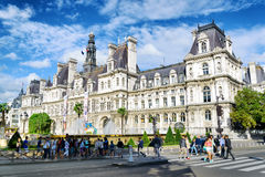 The City Hall in Paris, France. Stock Photos
