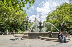 City Hall Park Stock Photos