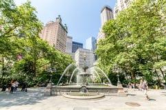 City Hall Park Stock Photo