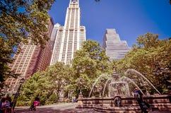 City Hall Park Royalty Free Stock Photos