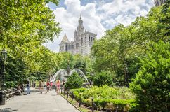 City Hall Park Stock Photo
