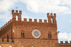 City Hall, Piazza del Campo Square, Siena Royalty Free Stock Photography