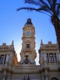 City Hall, Plaza Ayuntamiento,, Valencia. Valencia's City Hall (Town Hall), The Ayuntamiento is in the Plaza, or Square, of the same name in the centre of Royalty Free Stock Photo