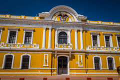 City Hall in Plaza Bolivar, Santa Marta, Colombia Stock Image