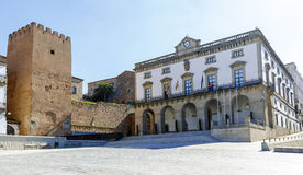 City Hall Plaza Mayor in Caceres Stock Photography