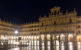City hall at Plaza Mayor  in night Stock Image