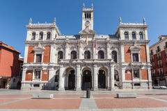 City hall on plaza mayor square in Valladolid Royalty Free Stock Image
