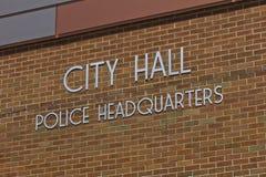 City Hall & Police Headquarters on Brick Background III