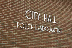 City Hall & Police Headquarters Royalty Free Stock Images