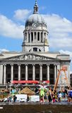 City Hall and pool, Nottingham. royalty free stock photo