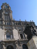City Hall - Porto. The facade, a clock tower and a statue in front of the City Hall, Porto, Portugal, Europe Royalty Free Stock Image