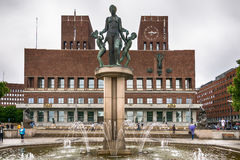 City Hall Radhuset, Oslo, Norway Royalty Free Stock Images