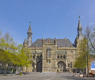 City Hall or Rathaus in Aachen, Germany Stock Images