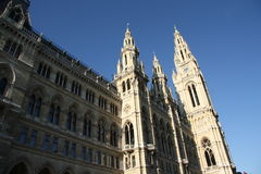 City hall - Rathaus - in Vienna Royalty Free Stock Images