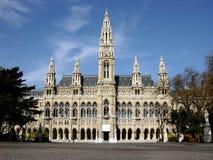 City hall - Rathaus in Vienna,Austria Royalty Free Stock Photos