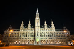 City Hall (Rathaus) in Vienna, Austria Royalty Free Stock Images