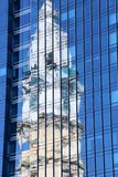 City Hall Reflection. Center City Philadelphia and the beautiful buildings Stock Photo