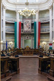 City hall of Reggio Emilia Italy. Interior view of the city hall of Reggio Emilia Royalty Free Stock Photography