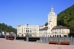 City Hall in the Rosa Khutor Alpine Resort. Krasnaya Polyana Royalty Free Stock Photography
