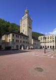 City Hall in the Rosa Khutor Alpine Resort. Royalty Free Stock Photography