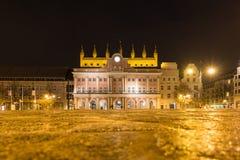 City hall of Rostock at night Royalty Free Stock Photos