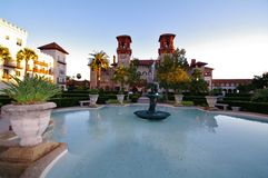 City hall of saint augustine. Spanish architecture in florida,fountain Royalty Free Stock Photos