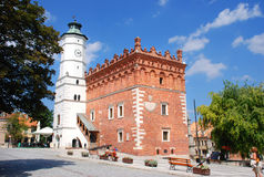 City Hall in Sandomierz. On the market (currently registry office Stock Images