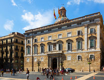 City hall at  Sant Jaume  square Royalty Free Stock Images