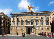 City hall at  Sant Jaume  square at  center of Barcelona Stock Photos