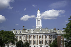 City Hall - Schenectady, New York. The City Hall of Schenectady, New York, is seen against a bright blue sky Royalty Free Stock Photos