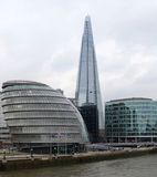 City Hall and The Shard Royalty Free Stock Photos